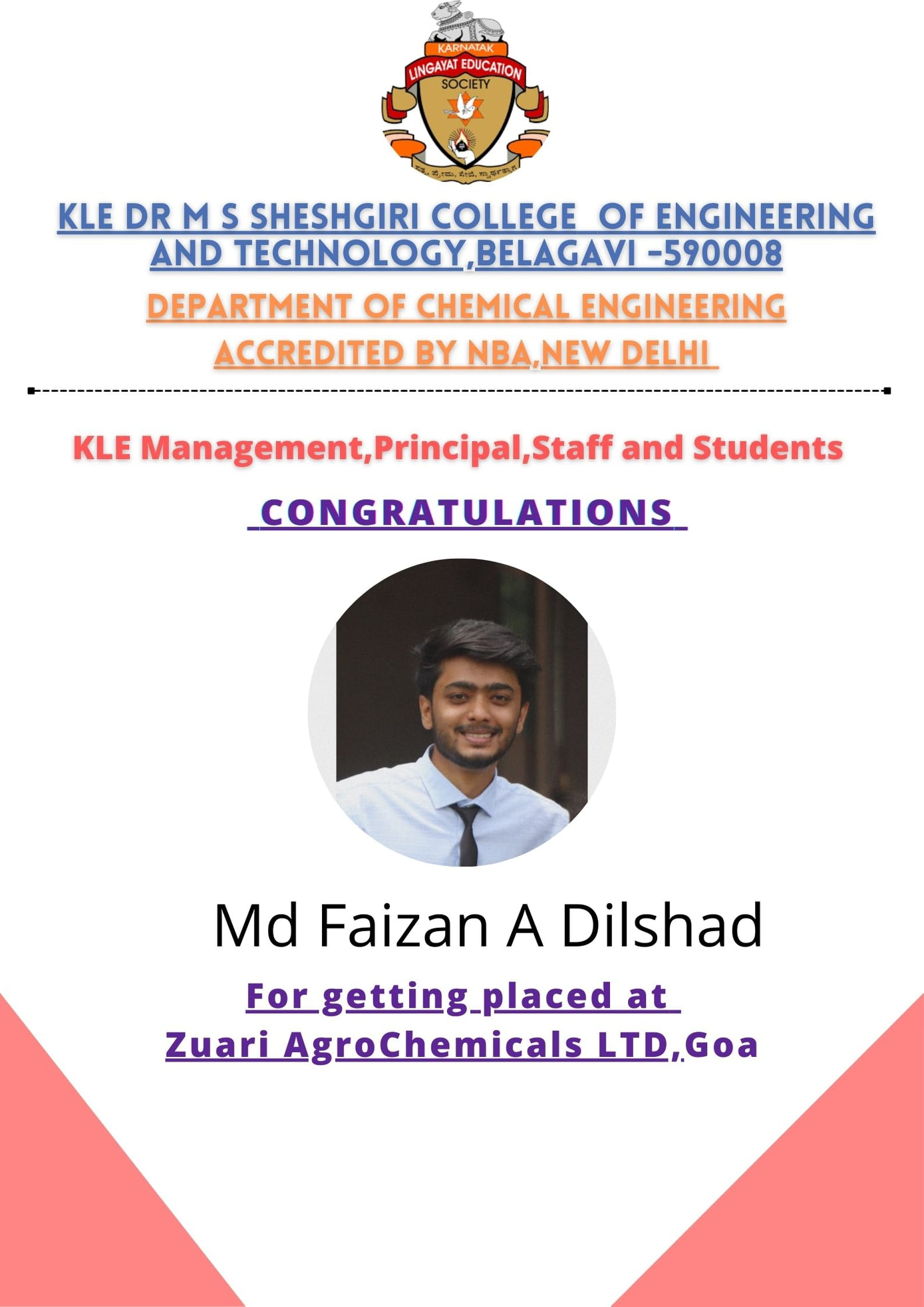 You are currently viewing Hearty Congratulations to Faizan A Dilshad